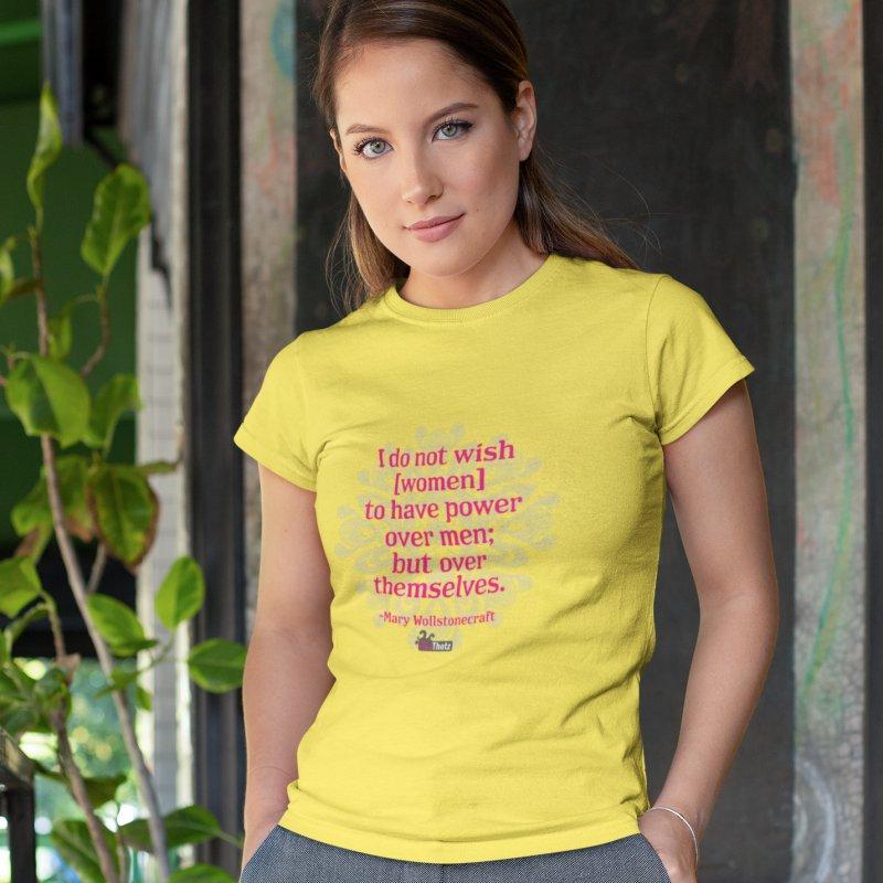Power over themselves in Women's Regular Unisex T-Shirt Lemon by FemThotz's Artist Shop