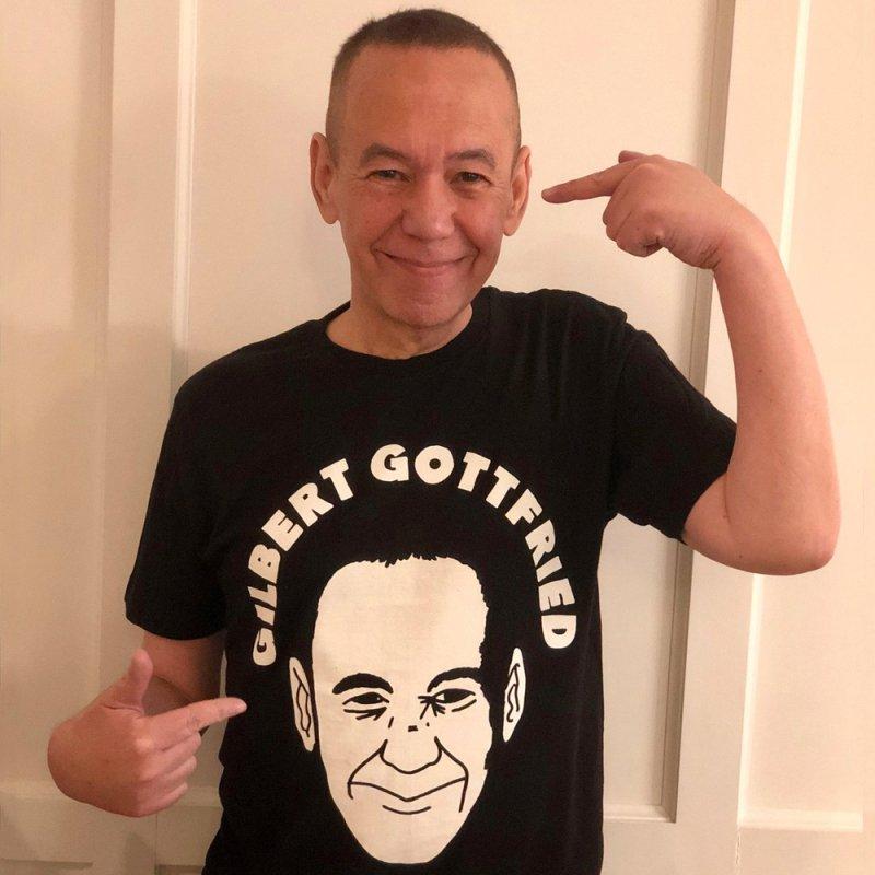 Gilbert Face in Men's Regular T-Shirt Black by GILBERT GOTTFRIED