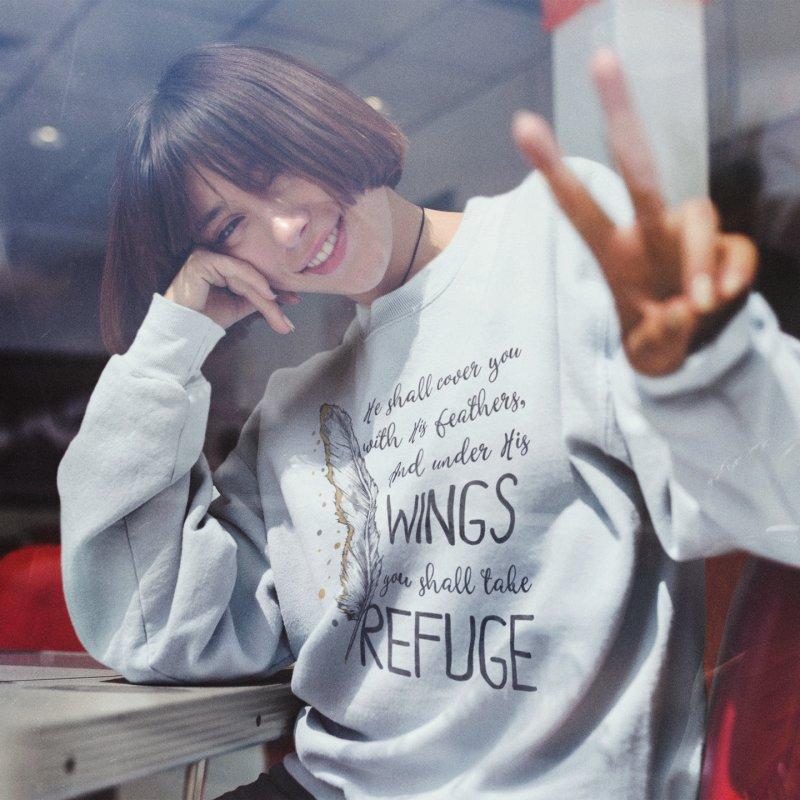 Refuge in Women's Sweatshirt Heather Oatmeal by Kingdomatheart's Artist Shop
