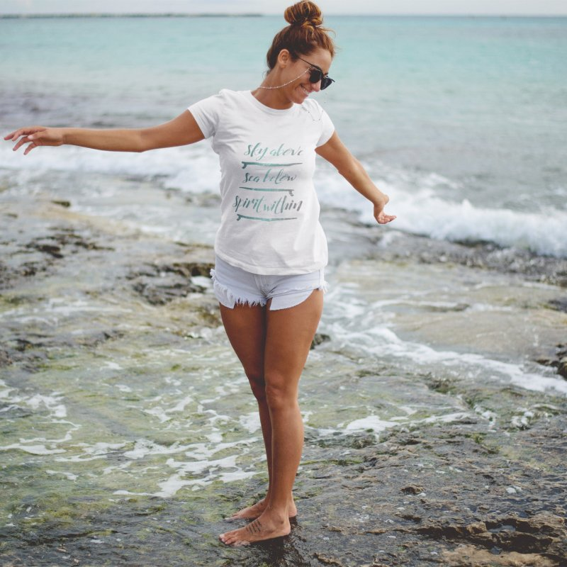 Spirit Within in Women's Fitted T-Shirt White by Kingdomatheart's Artist Shop