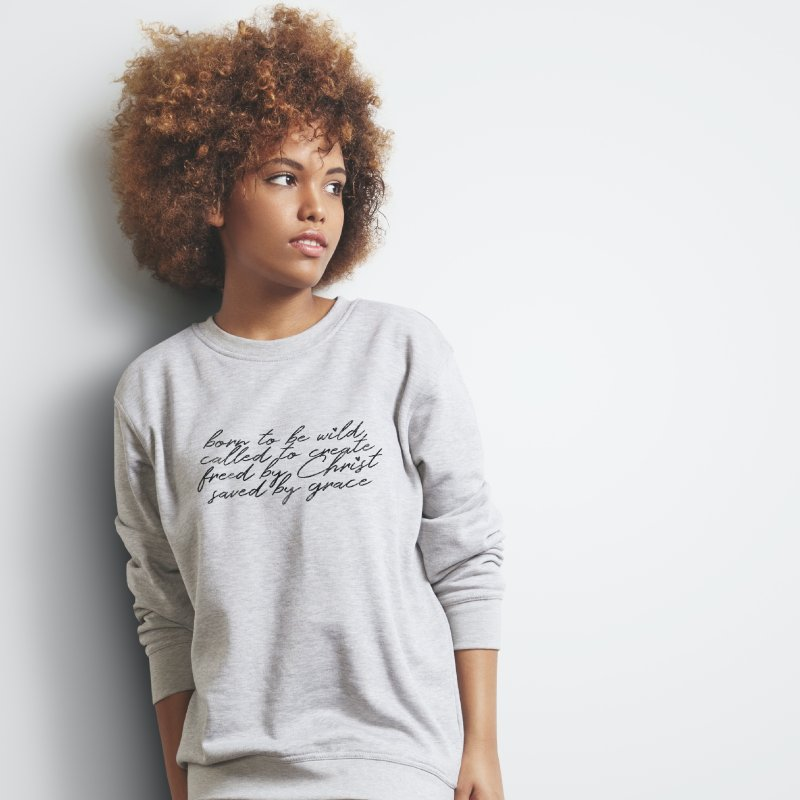 Born to be Wild in Women's Sweatshirt Heather Oatmeal by Kingdomatheart's Artist Shop