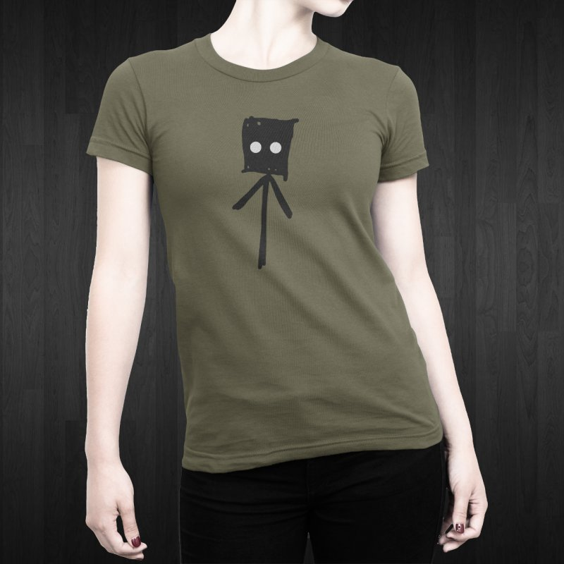 Sprite in Women's Fitted T-Shirt Light Olive by The Little Fears