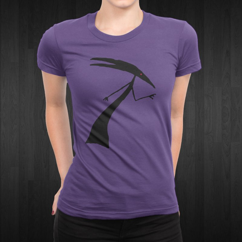 Capricorn in Men's T-shirt Purple by The Little Fears