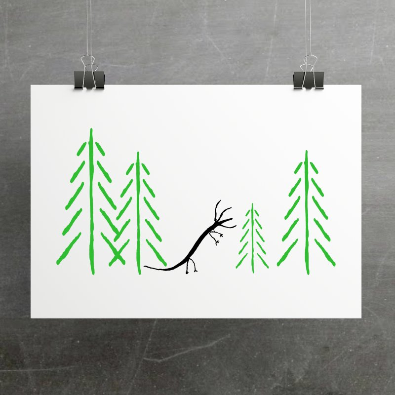 Hydras Forest in Fine Art Print by The Little Fears