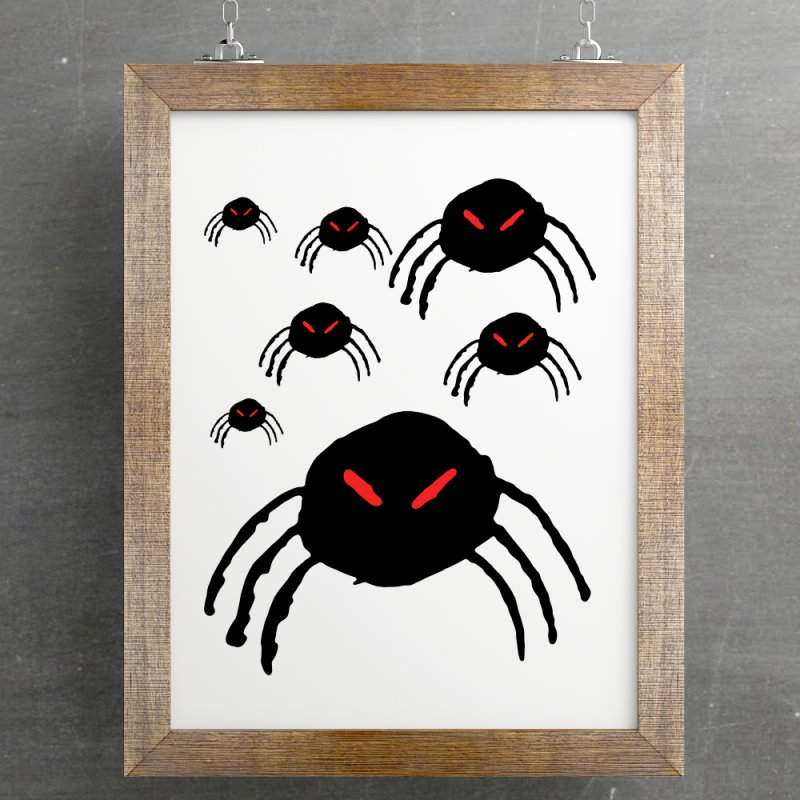 Spider Swarm in Fine Art Print by The Little Fears
