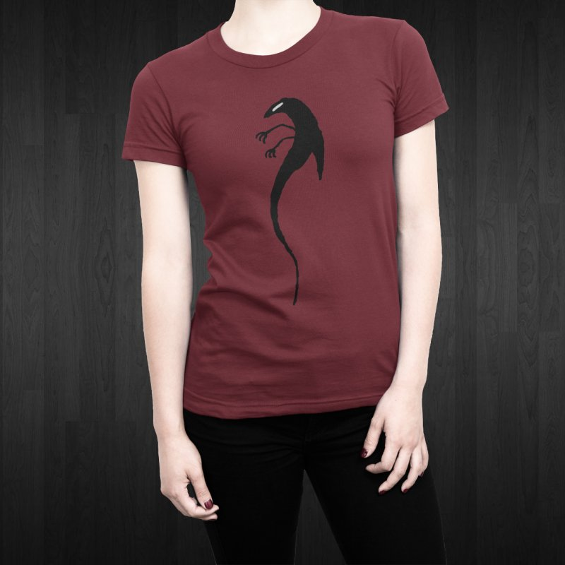 Lucy in Men's T-Shirt Scarlet Red by The Little Fears