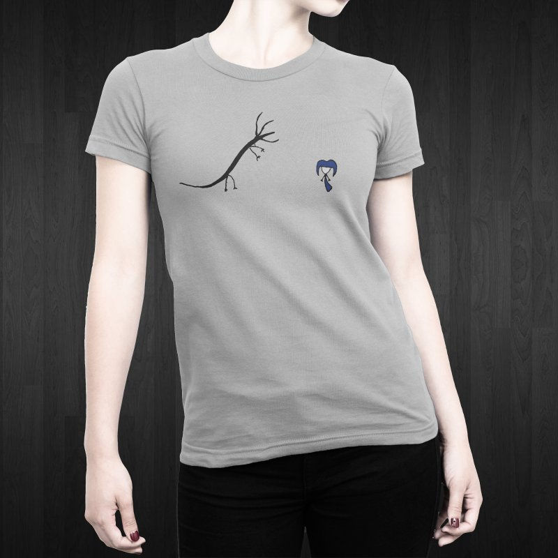 Hydra & Yuffie in Women's Fitted T-Shirt Heather Grey by The Little Fears