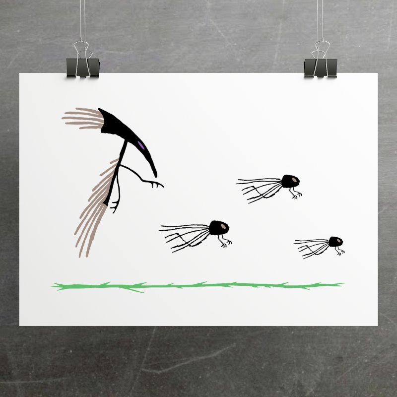 Pigeon Shaman in Fine Art Print by The Little Fears