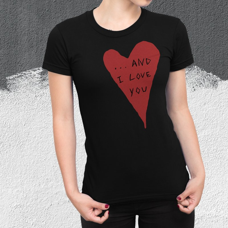 Lucy's Heart - And I Love You in Men's Extra Soft T-Shirt Olive by The Little Fears