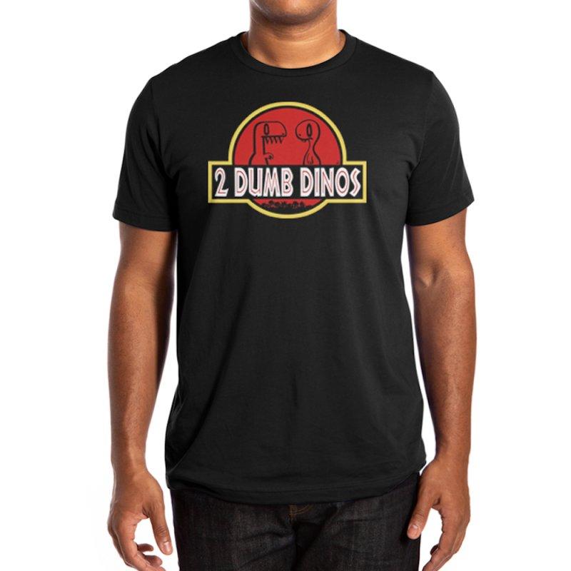 2 Dumb Dinos Men's T-Shirt in Men's Regular T-Shirt Black by Nathan Hamill