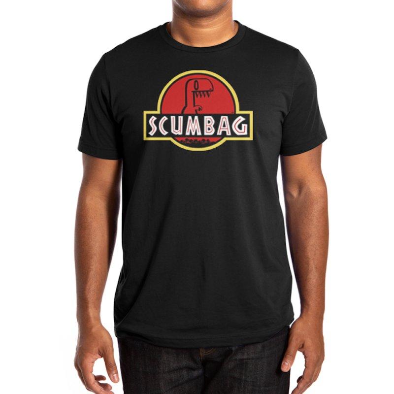 2DD - Scumbag Men's T-Shirt in Men's Regular T-Shirt Black by Nathan Hamill
