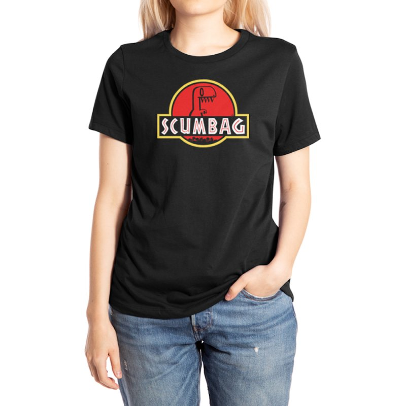 2DD - Scumbag Women's T-Shirt in Women's Extra Soft T-Shirt Black by Nathan Hamill