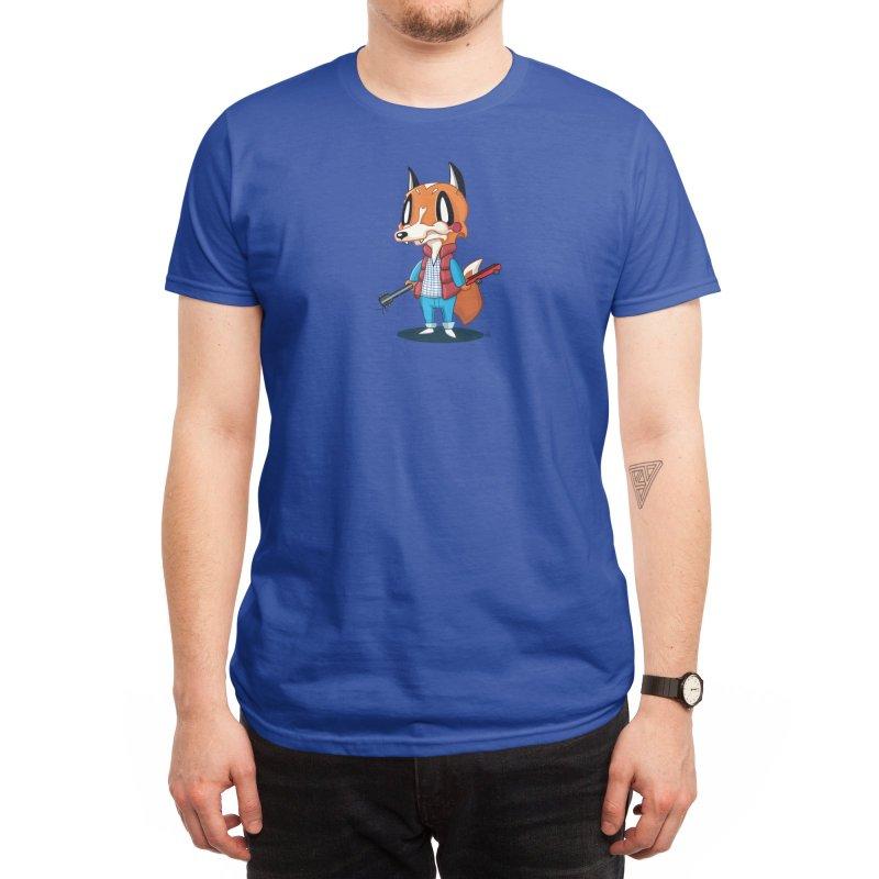 McFox Men's T-Shirt in Men's Regular T-Shirt Royal Blue by Nathan Hamill