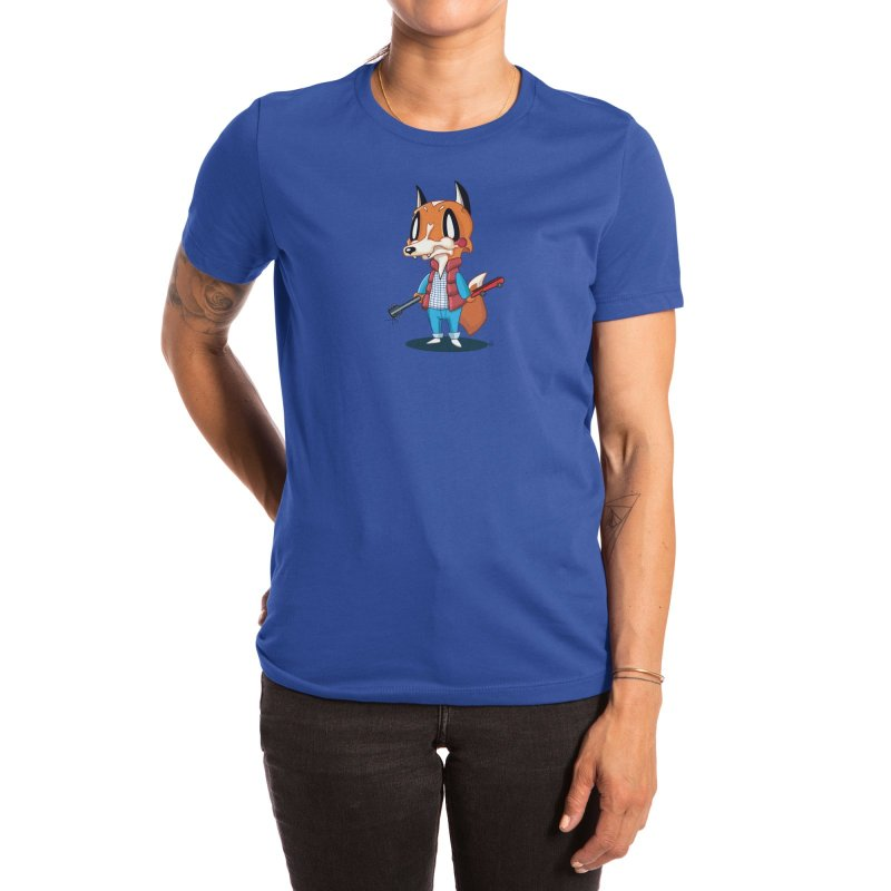 McFox Women's T-Shirt in Women's Extra Soft T-Shirt Royal Blue by Nathan Hamill
