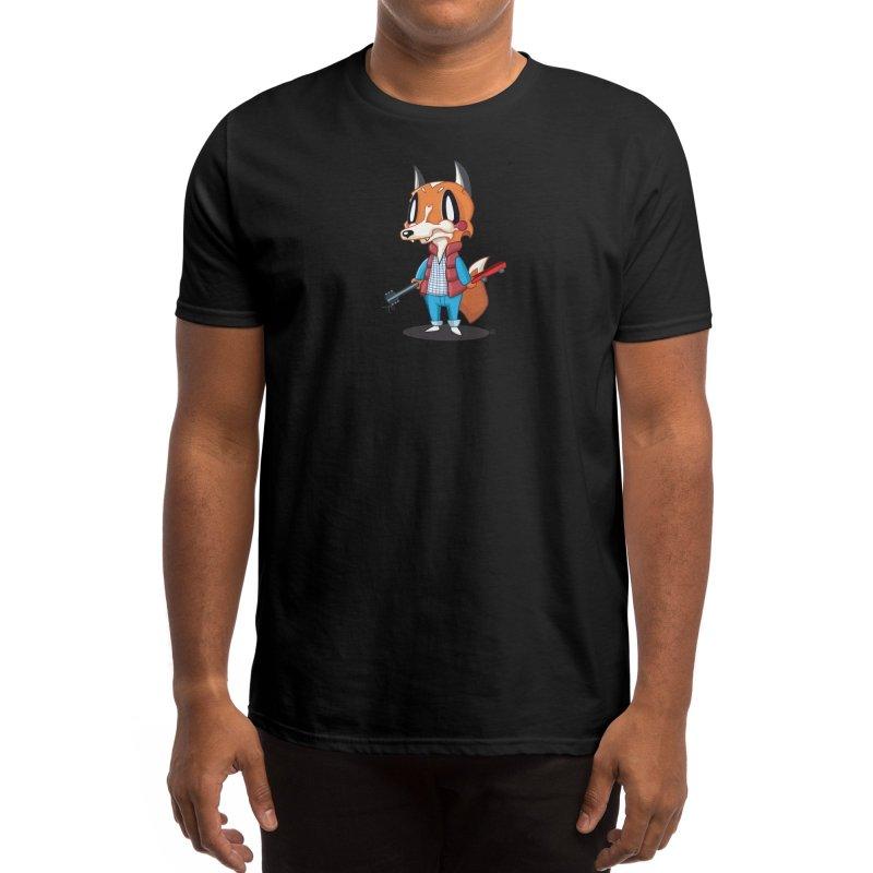 McFox Men's T-Shirt Black in Men's Regular T-Shirt Black by Nathan Hamill