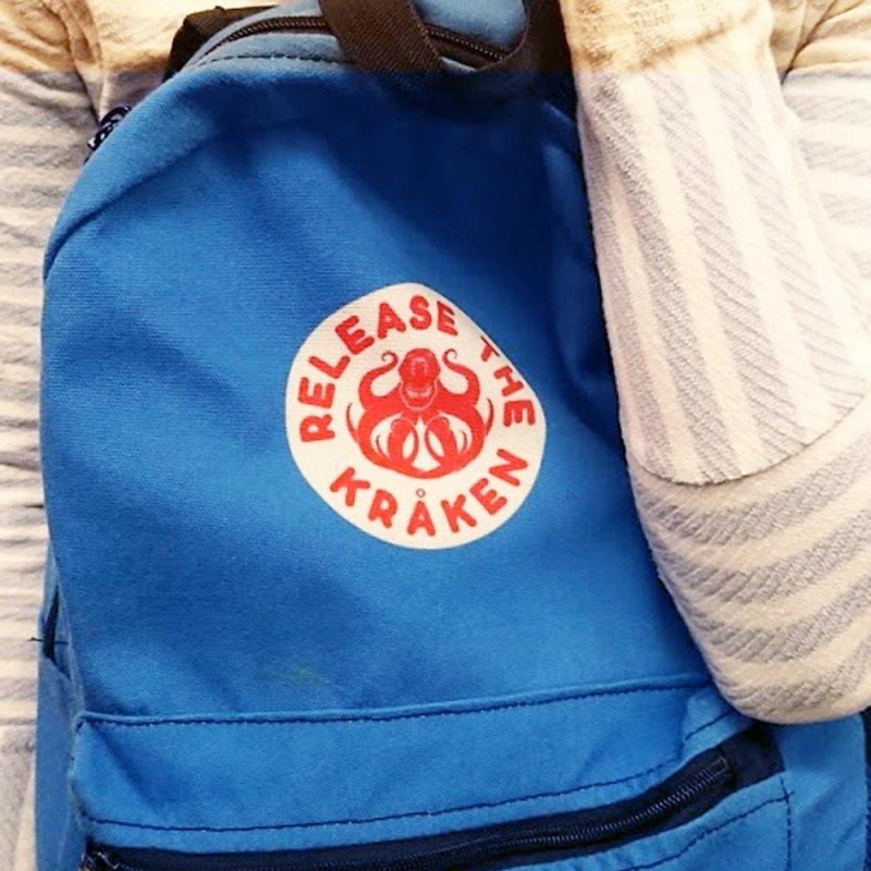 Release the Kraken in Backpack by Not Bad Tees