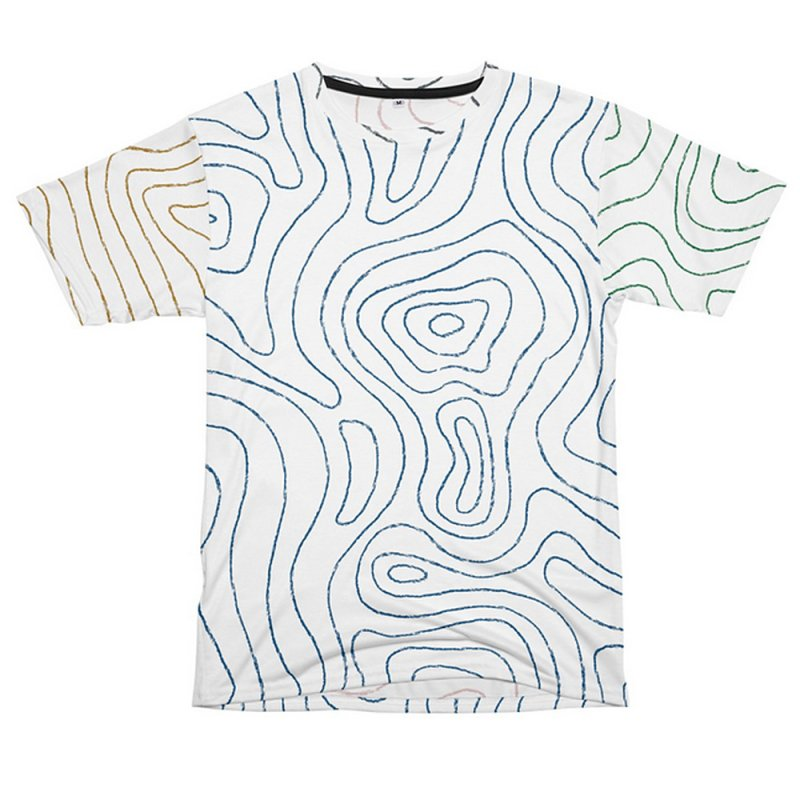 Sketchy Topo Lines by Puttyhead's Artist Shop