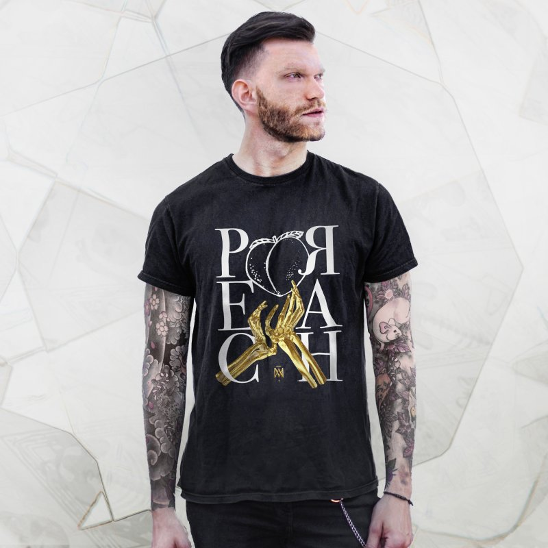 Preach in Men's Premium T-Shirt Black by Saṃsāra LSD