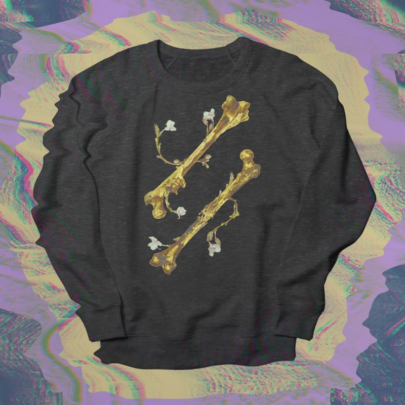 Renaissance in Men's French Terry Sweatshirt Smoke by Saṃsāra LSD