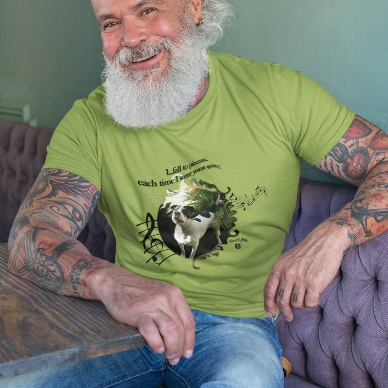 Fall to pieces in Men's Extra Soft T-Shirt Avocado by Smarty Petz's Artist Shop