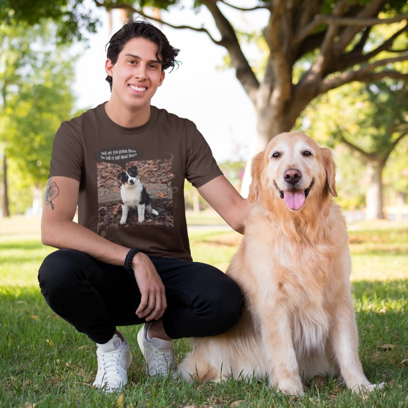 Throw the Ball! in Men's Premium T-Shirt Chocolate by Smarty Petz's Artist Shop