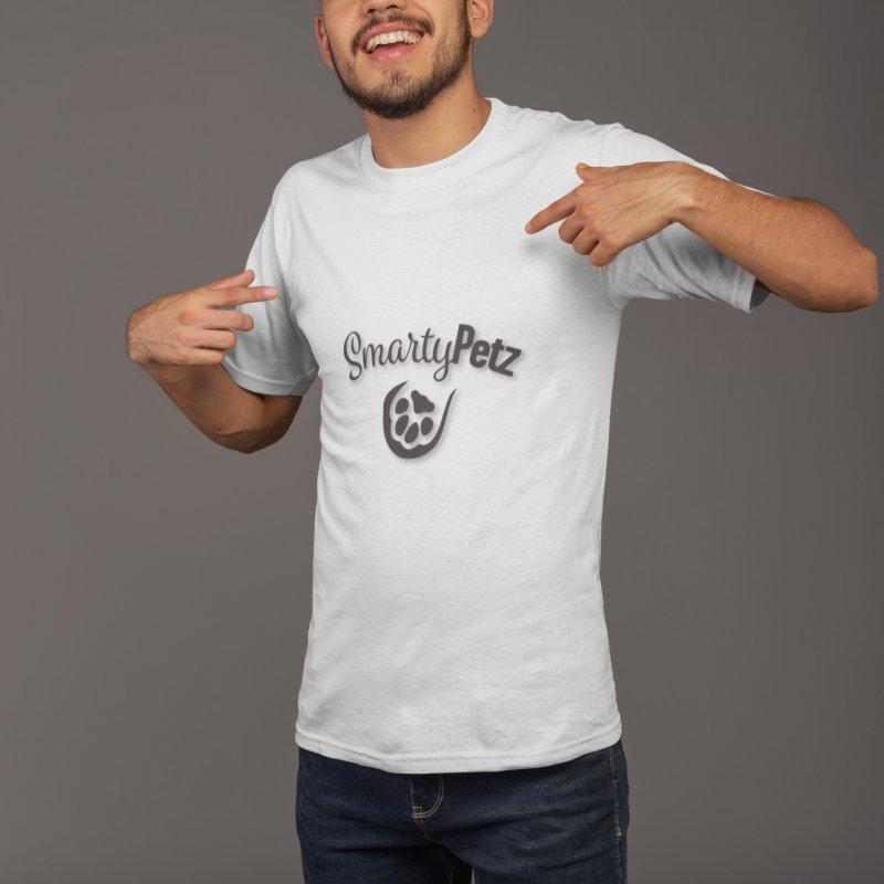 SmartyPetz Logo Shirt in Men's Regular T-Shirt White by Smarty Petz's Artist Shop