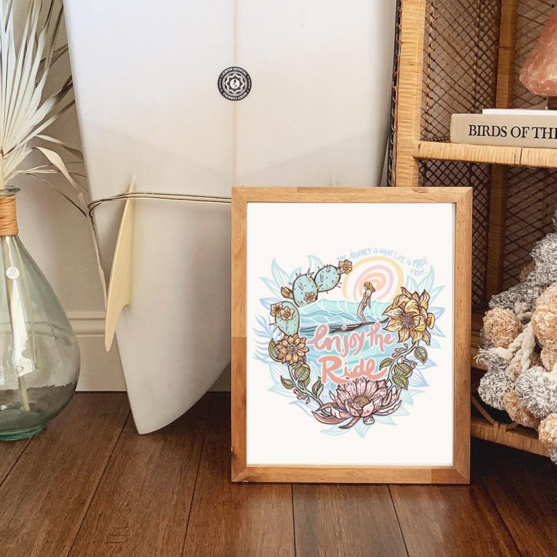 Enjoy the Ride in Fine Art Print by Chapman at Sea // surf art by Tash Chapman