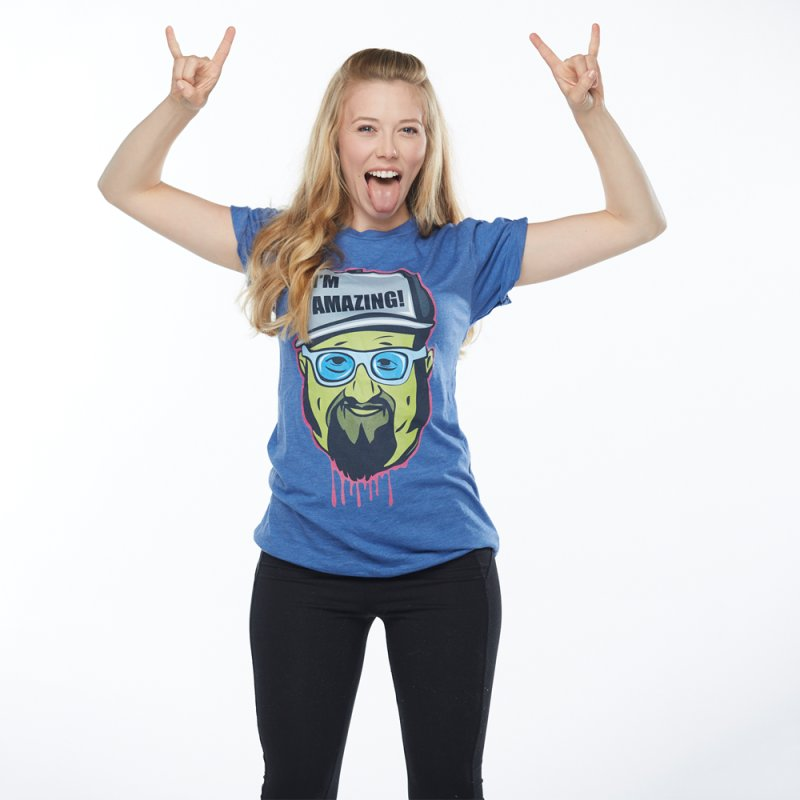 I'm Amazing... I'M AMAZING! in Women's Triblend T-Shirt Blue Triblend by The Night Time Show Shop