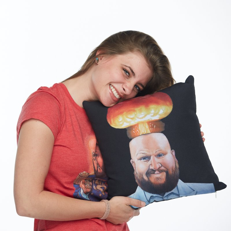 MIND BLOWN! in Throw Pillow by The Night Time Show Shop