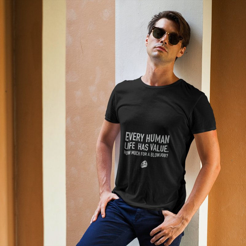 Every Human in Men's Extra Soft T-Shirt Black by WTAFGear's Artist Shop