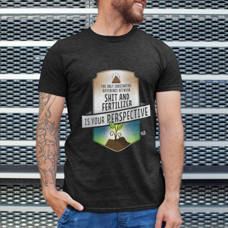 Shit and Fertilizer in Men's Extra Soft T-Shirt Black by WTAFGear's Artist Shop