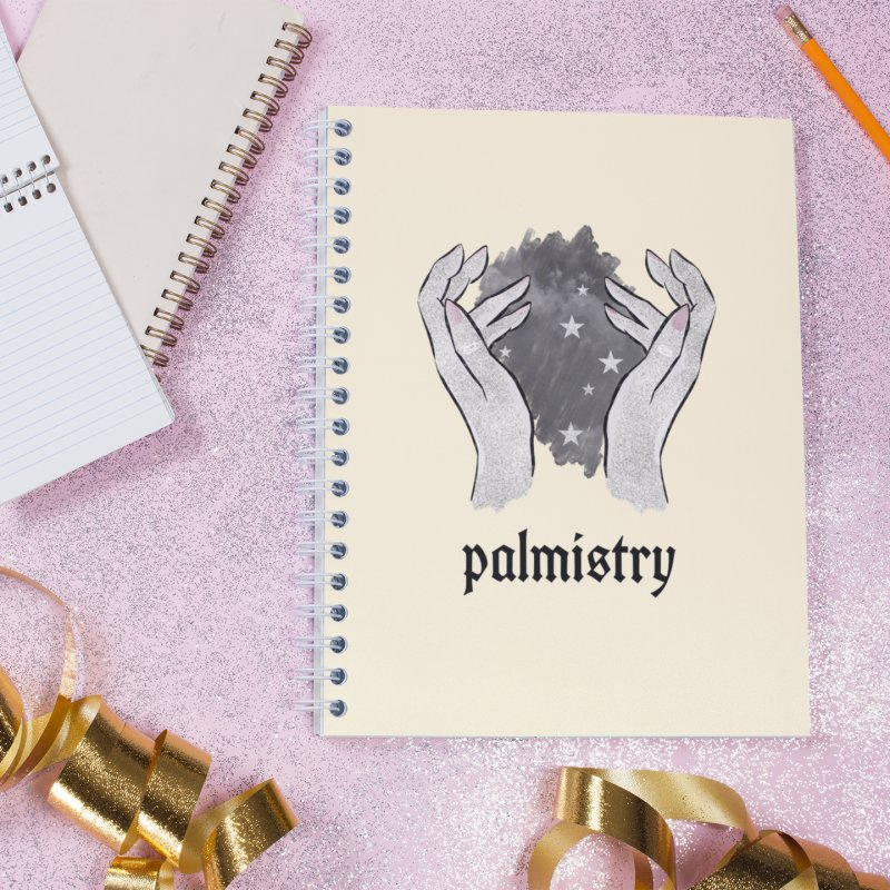 Palmistry in Lined Spiral Notebook by Astro Kitty