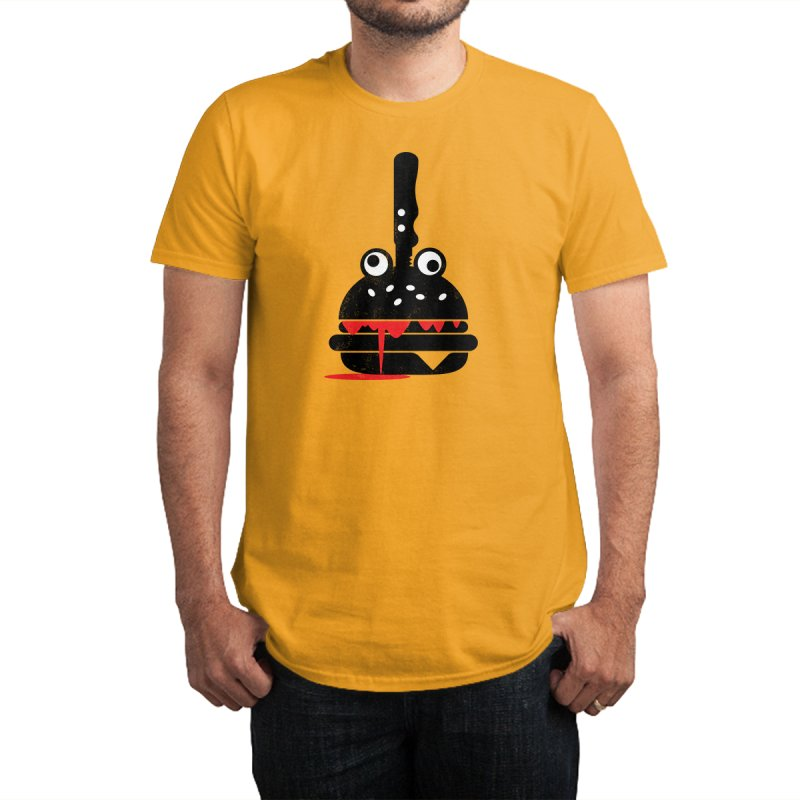 Burger Murder in Men's Regular T-Shirt Gold by Avo G'day!