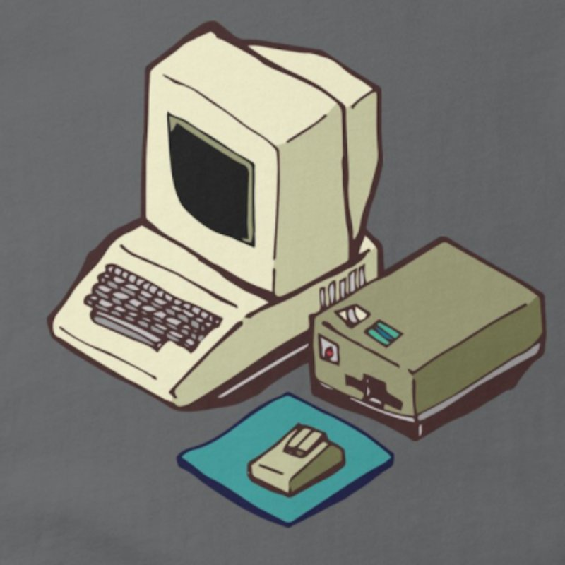 1980's Computer in Women's Fitted T-Shirt Heavy Metal by bad arithmetic