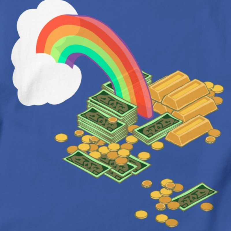 Gold at the End of the Rainbow in Men's Regular T-Shirt Royal Blue by napiform clip art