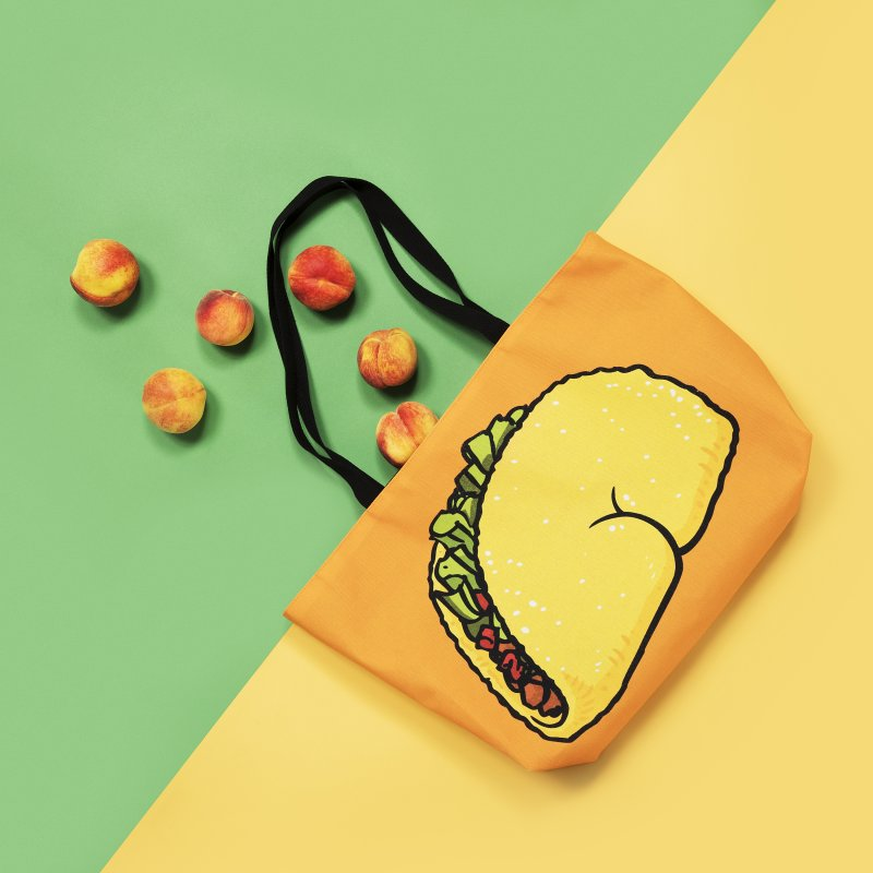 Taco Butt in Weekender Bag by Brian Cook
