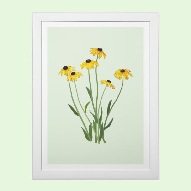 Black Eyed Susans - Wildflower Collection by buxmontweb's Artist Shop