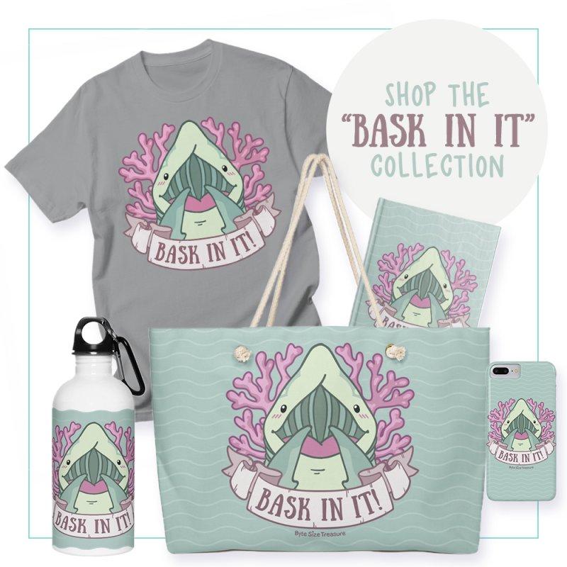 Bask In It! (Basking Shark) by Byte Size Treasure's Shop