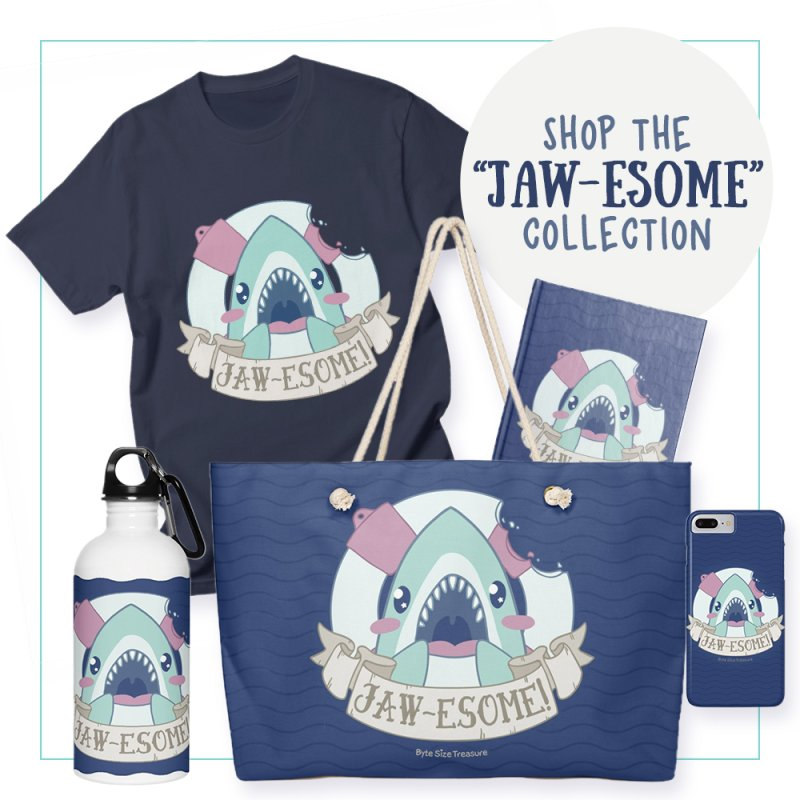 Jawesome! (Great White Shark) by Byte Size Treasure's Shop