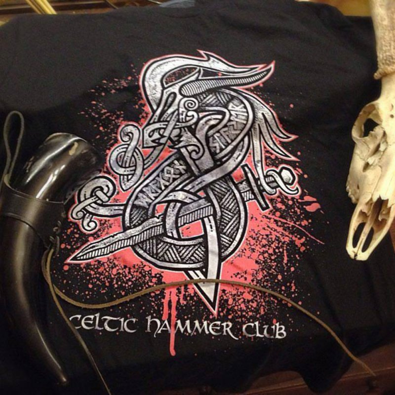 Dragon Slayer (Grey) by Celtic Hammer Club Apparel