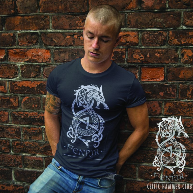 Fenrir: The Monster Wolf of Norse Mythology (Gray) by Celtic Hammer Club Apparel