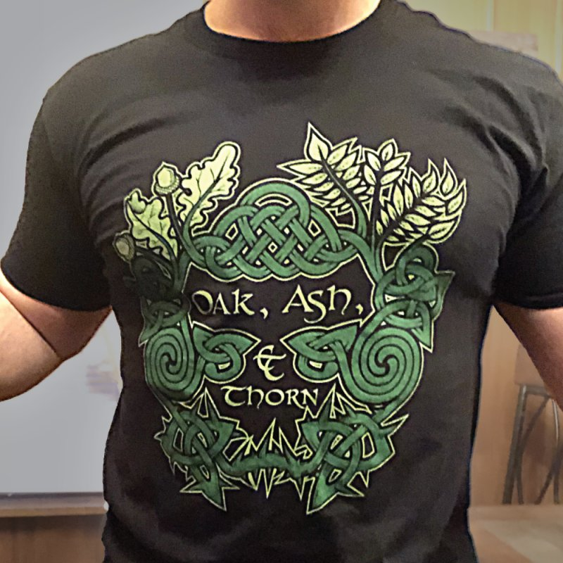 Ash & Thorn Band Logo in  by Celtic Hammer Club Apparel