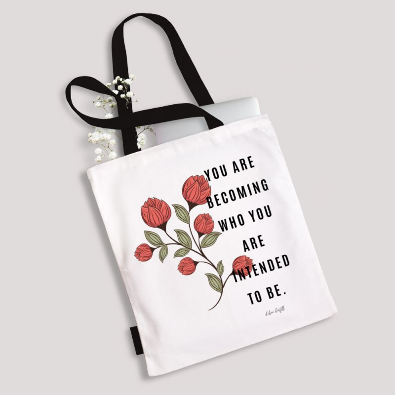 Becoming in Tote Bag by The Emotional Archeologist