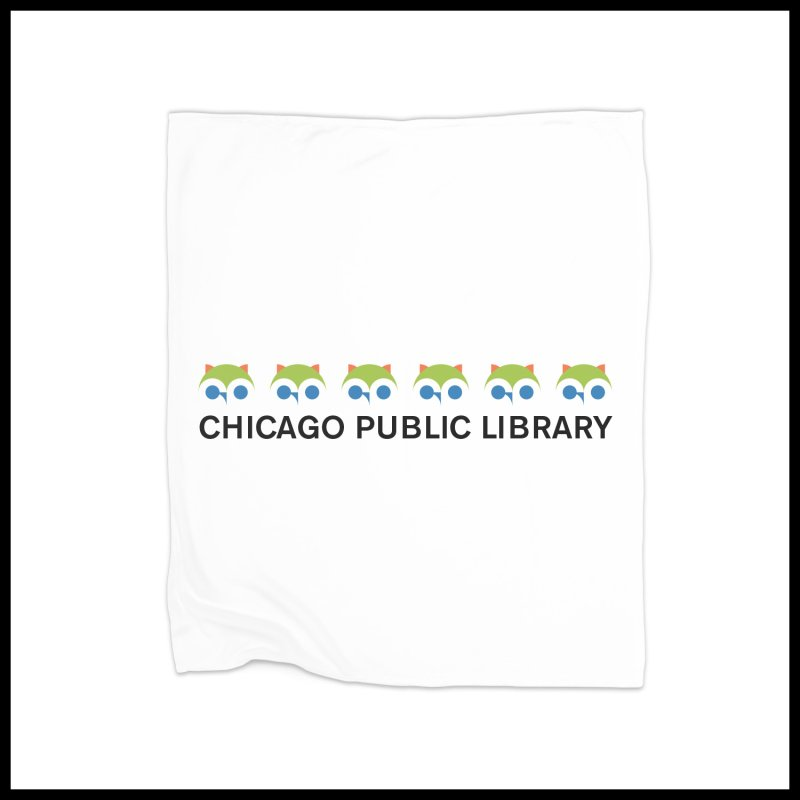 CPL Owl Row in Fleece Blanket Blanket by Chicago Public Library Artist Shop