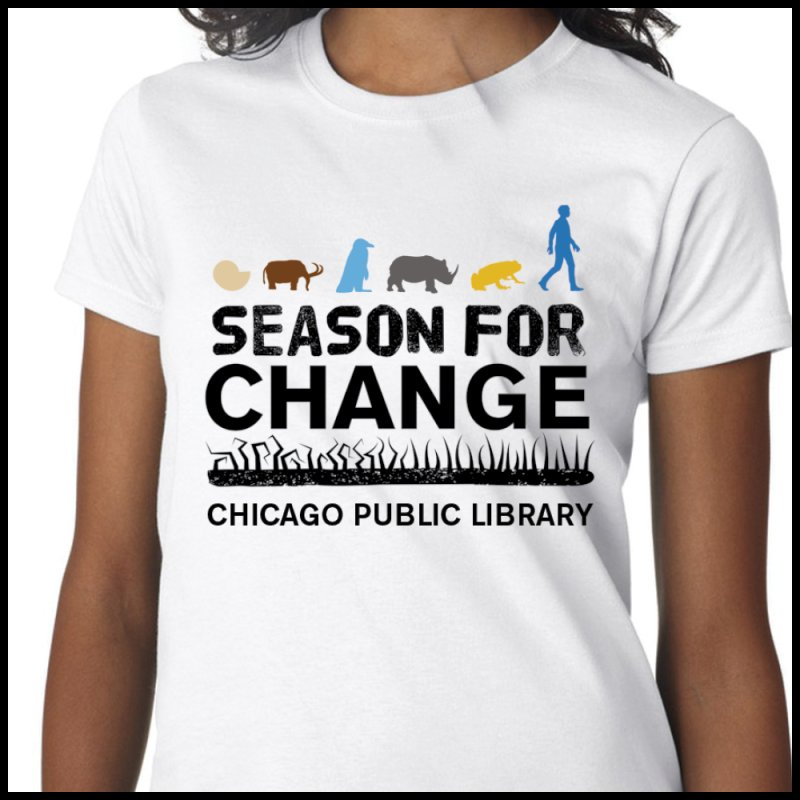 One Chicago 2019 Season of Change Black Text in  by Chicago Public Library Artist Shop