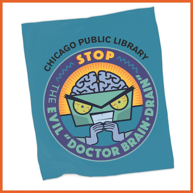 Summer 2019 Dr. Brain Drain Background by Chicago Public Library Artist Shop