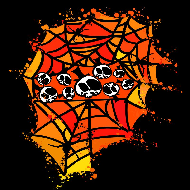 Colorful spider web by cindyshim's Artist Shop