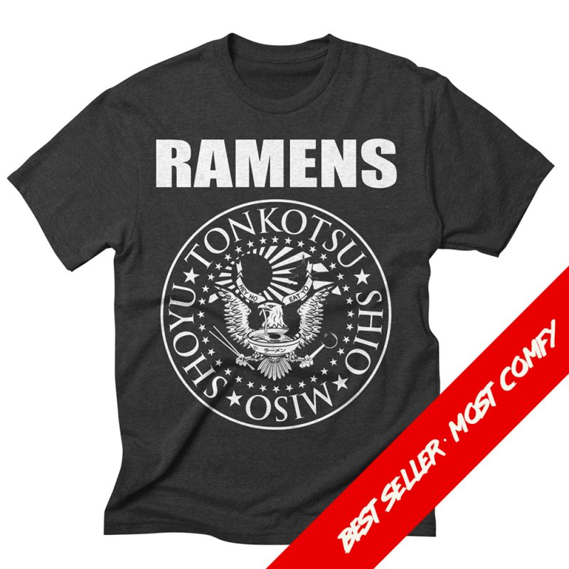 RAMENS in Men's Triblend T-Shirt Heather Onyx by Cooks and Casseroles