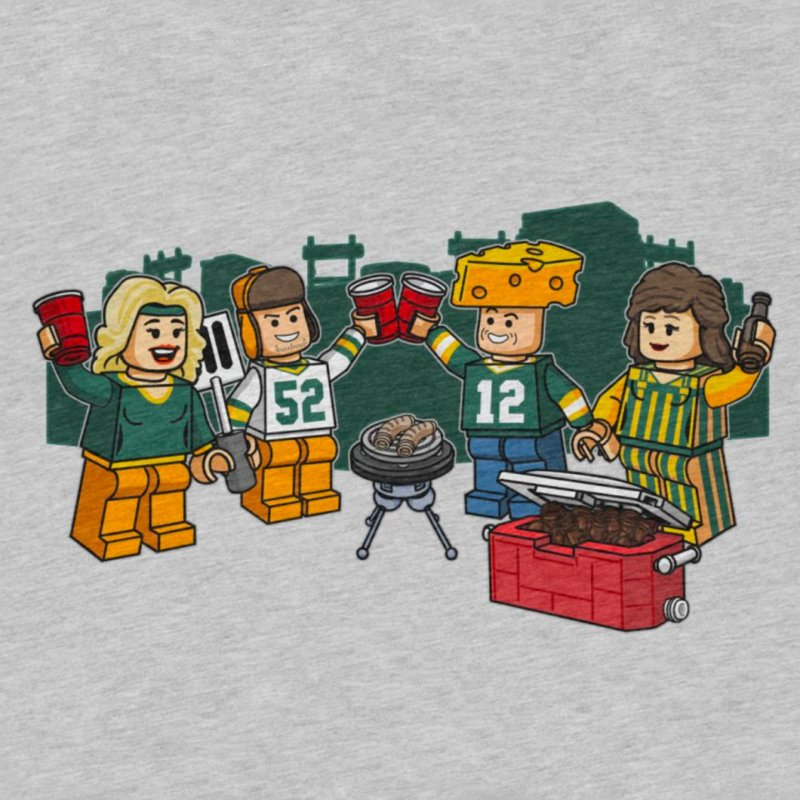 It's Gametime in Green Bay in Men's Extra Soft T-Shirt Heather Grey by Curly & Co.