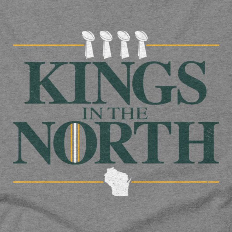 Kings in the North in Men's Triblend T-Shirt Grey Triblend by Curly & Co.